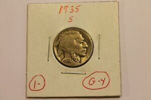 1935 S BUFFALO NICKEL   ORIGINAL & UN TREATED   5 CENT $.05 5C COIN