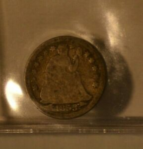 LIBERTY SEATED DIME 1853 GOOD CONDITION VARIETY 3 WITH ARROWS
