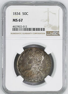Click now to see the BUY IT NOW Price! 1834 CAPPED BUST 50C NGC MS 67