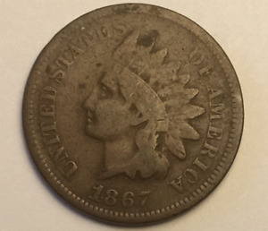 1867 INDIAN HEAD PENNY CENT CIRCULATED