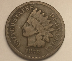 1878 INDIAN HEAD PENNY CENT CIRCULATED
