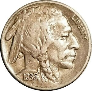1936 S BUFFALO NICKEL XF OR BETTER WITH FULL HORN SOME LUSTER
