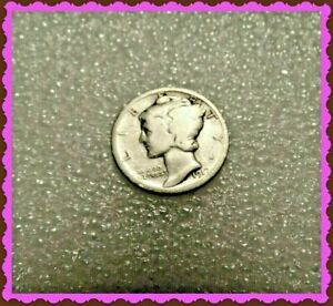 1917 MERCURY SILVER DIME 90  SILVER MERCURY DIME ONLY 2ND YEAR OF ISSUE @@