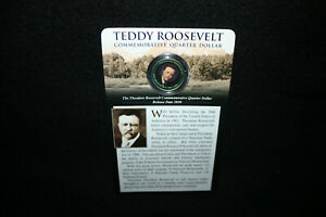 TEDDY ROOSEVELT/YELLOWSTONE NATIONAL PARK 2010 COLORIZED COMMEMORATIVE QUARTER