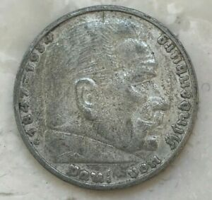 Click now to see the BUY IT NOW Price! 1935 G GERMANY 5 REICHSMARK   NAZI SILVER