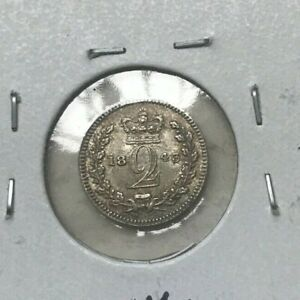 Click now to see the BUY IT NOW Price! 1843 GREAT BRITAIN 2 PENCE   SILVER   LOW END UNCIRCULATED
