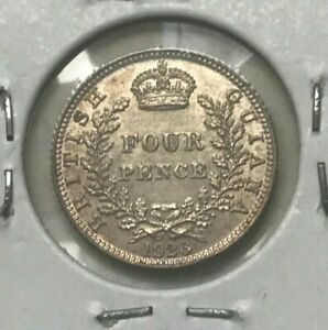 Click now to see the BUY IT NOW Price! 1926 BRITISH GUIANA 4 PENCE   SILVER UNCIRCULATED