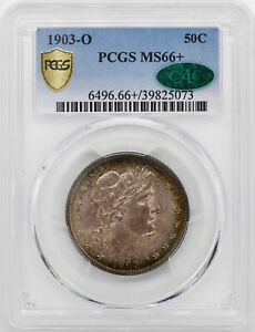 Click now to see the BUY IT NOW Price! 1903 O BARBER 50C PCGS MS 66