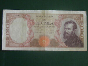 ITALY BANKNOTE 10000 LIRE 1964