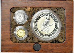 Click now to see the BUY IT NOW Price! 1995 PERTH MINT GOLD SILVER AND PLATINUM SET IN ORIGINAL BOX WITH CERTIFICATE