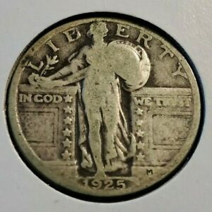 1925 P 25C STANDING LIBERTY QUARTER 90  SILVER COIN