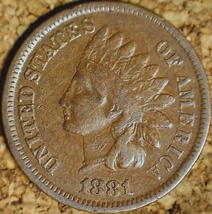 1881 INDIAN HEAD CENT   FINE WITH READABLE LIBERTY  K608