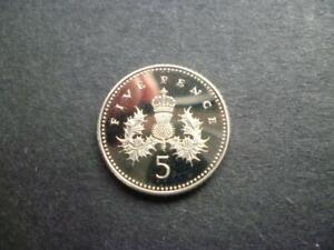1997 PROOF 5P COIN  SMALLER TYPE   HOUSED IN A CAPSULE COIN SHOWN SENT.