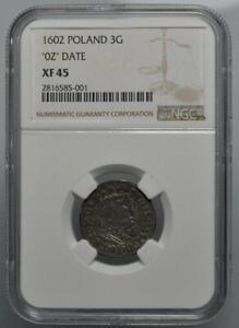 Click now to see the BUY IT NOW Price! 3 GROSSUS 1602 POLAND   DATE 160Z   NGC XF45   LY    R8