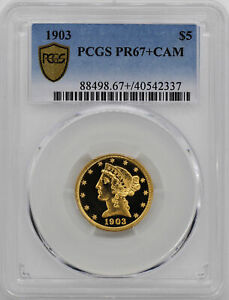 Click now to see the BUY IT NOW Price! 1903 LIBERTY $5 PCGS PR 67  CAM