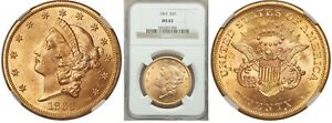 Click now to see the BUY IT NOW Price! 1863 P CIVIL WAR  US GOLD $20 DOUBLE EAGLE    NGC MS63