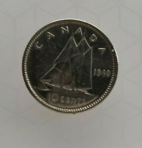 1940 CANADA 10 CENT COIN   80  SILVER   CHECK IT OUT
