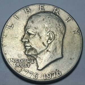1976 EISENHOWER DOLLAR TYPE 2   SHARP DESIGN   DELICATE LETTERING   BICENTENIAL