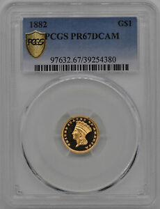 Click now to see the BUY IT NOW Price! 1882 GOLD G$1 PCGS PR 67 DCAM