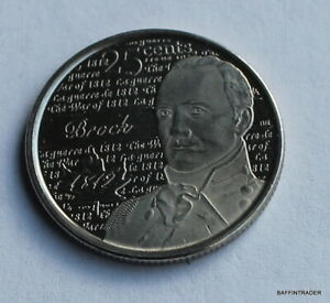 CANADA 2012 CANADIAN QUARTER 25 CENT COIN BROCK WAR OF 1812 ELIZABETH II