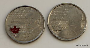 2 X CANADA 2012 CANADIAN QUARTER 25 CENT COIN BROCK WAR OF 1812 ELIZABETH II