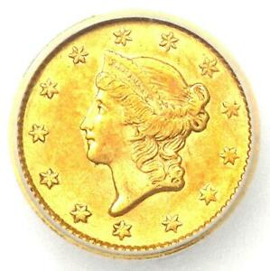 1853 LIBERTY GOLD DOLLAR COIN G$1   CERTIFIED ICG AU50    COIN