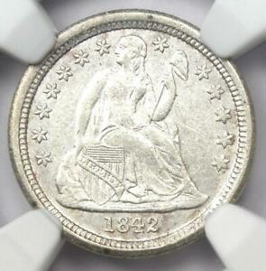 1842 O SEATED LIBERTY DIME 10C   NGC UNCIRCULATED DETAILS  UNC MS     COIN