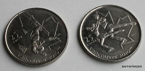 CANADA 2008 QUARTER 25 CENT VANCOUVER 2010 OLYMPICS FREESTYLE SKI FIGURE SKATING