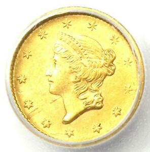 1852 LIBERTY GOLD DOLLAR COIN G$1   CERTIFIED ICG MS61  BU UNC     COIN