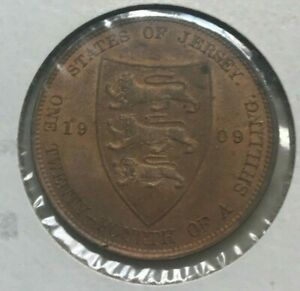 Click now to see the BUY IT NOW Price! 1909 JERSEY 1/24TH SHILLING   NICE COPPER