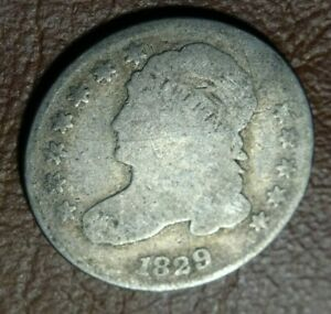 1829 CAPPED BUST DIME OLD US SILVER 10C COLLECTION MINTAGE   770 000