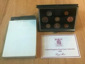 Click now to see the BUY IT NOW Price! 1984 GREAT BRITAIN PROOF SET   8 COIN SET   MUSTY PACKAGING