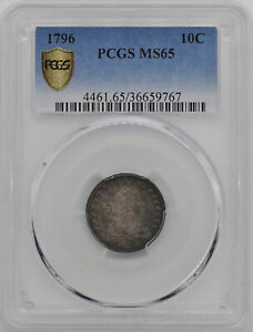Click now to see the BUY IT NOW Price! 1796 DRAPED BUST 10C PCGS MS 65