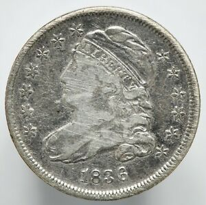 1836  P  CAPPED BUST SILVER HALF DIME
