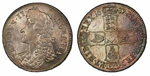 Click now to see the BUY IT NOW Price! ENGLAND JAMES II 1687 AR CROWN. PCGS MS64 TERTIO S 3407; ESC 743
