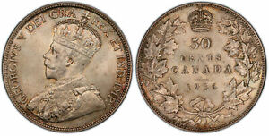 Click now to see the BUY IT NOW Price! CANADA GEORGE V.  KING 1910 1936 . 1916 AR 50 CENTS. PCGS MS64 RCM OTTAWA KM 25