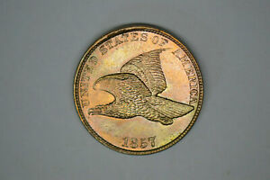 1857 FLYING EAGLE CENT   FROM DAD'S TYPE SET