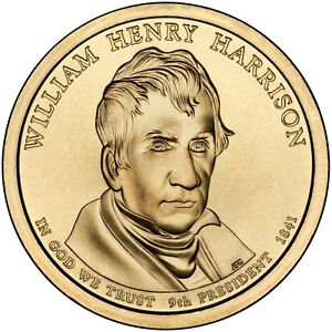 2009 WILLIAM HARRISON PRESIDENT DOLLAR P OR D MINT 1 COIN BRILLIANT UNCIRCULATED