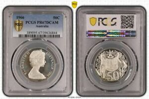 Click now to see the BUY IT NOW Price! AUSTRALIA 1966 PROOF 50 CENT PCGS PR67DCAM