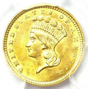 1857 INDIAN GOLD DOLLAR  G$1 COIN    CERTIFIED PCGS AU DETAIL    COIN