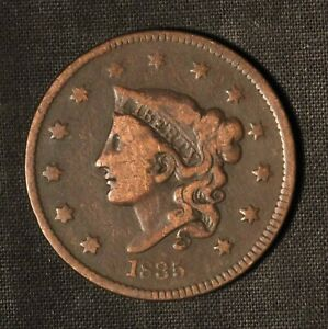 1835 1C CORONET HEAD LARGE CENT   HEAD OF 1836    US
