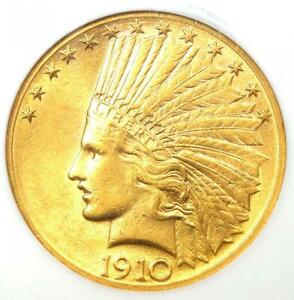 1910 D INDIAN GOLD EAGLE $10 COIN   CERTIFIED NGC AU58    GOLD COIN
