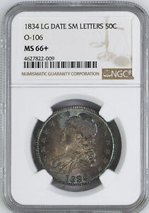 Click now to see the BUY IT NOW Price! 1834 CAPPED BUST 50C PCGS MS 66