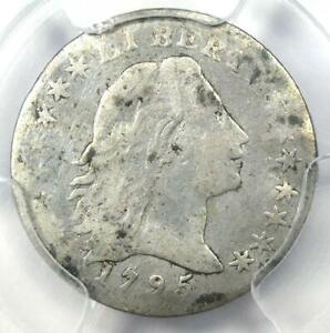 1795 FLOWING HAIR HALF DIME H10C   CERTIFIED PCGS VG DETAILS    COIN