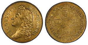 Click now to see the BUY IT NOW Price! ENGLAND JAMES II  1688/7 AV TWO GUINEAS. PCGS AU58 SCBC 3399; MCE 122.
