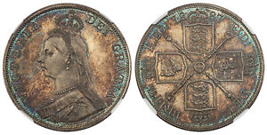 Click now to see the BUY IT NOW Price! BRITAIN VICTORIA 1887 AR DOUBLE FLORIN. NGC PR66 SCBC 3923.