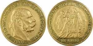 Click now to see the BUY IT NOW Price! HUNGARY. FRANZ JOSEPH I 1907 KB AV 100 KORONA. PCGS MS64 KORMOCZBANYA FR. 256