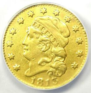 1813 CAPPED BUST GOLD HALF EAGLE $5   ANACS VF30 DETAILS    GOLD COIN