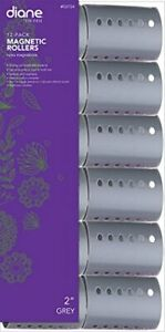 MAGNETIC HAIR ROLLER GREY 2 INCH STRONG MATERIAL UNBREAKABLE 2 INCH