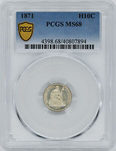 Click now to see the BUY IT NOW Price! 1871 LIBERTY SEATED H10C PCGS MS 68